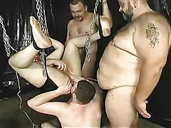 Old hairy gay lick asshole by turns